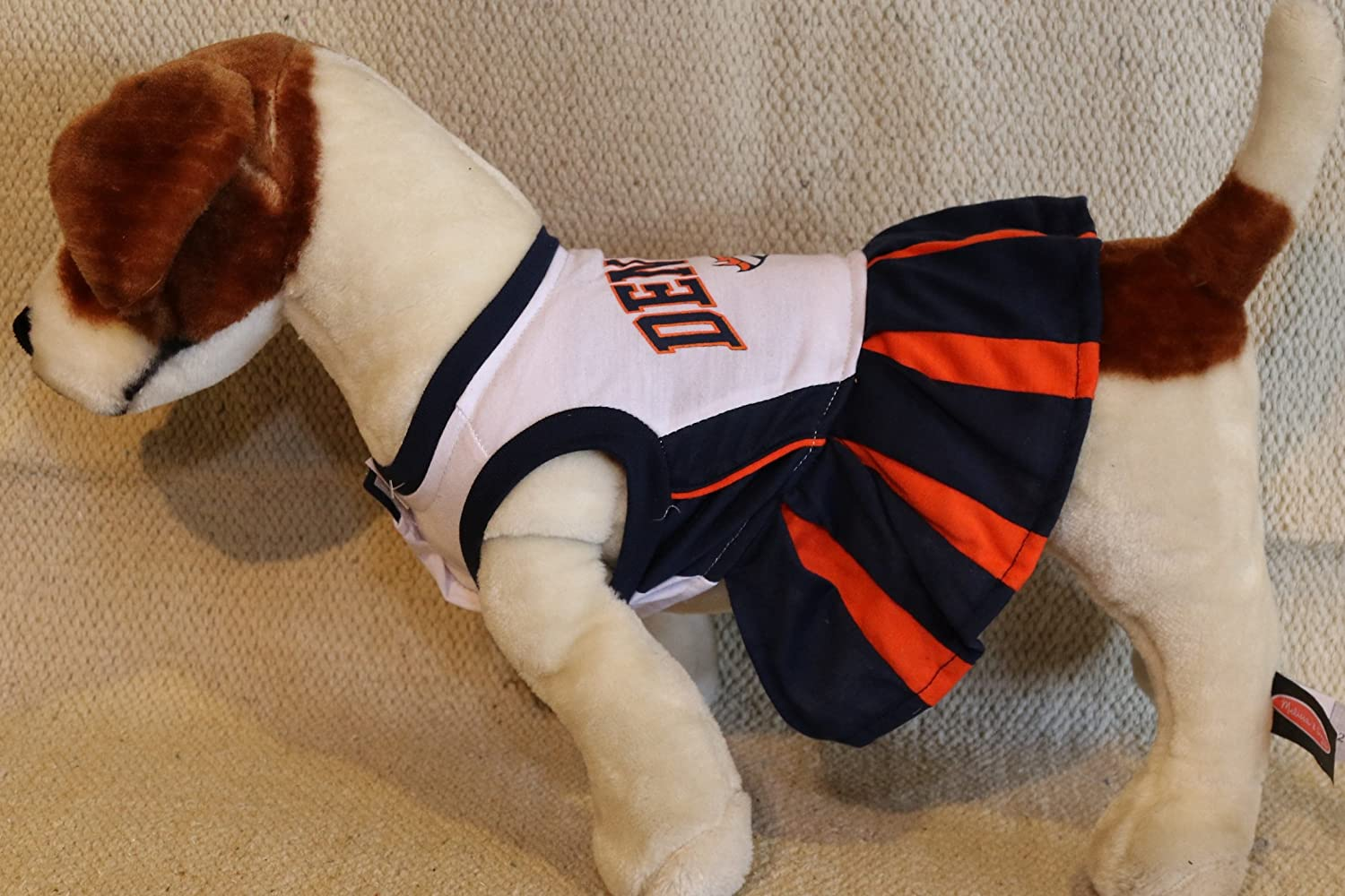 huge selection of e8651 fe39d Amazon.com : DENVER BRONCOS CHEERLEADER DOG DRESS OUTFIT ALL ...