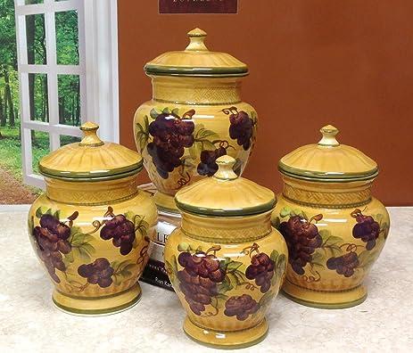 tuscany grapes kitchen decor set