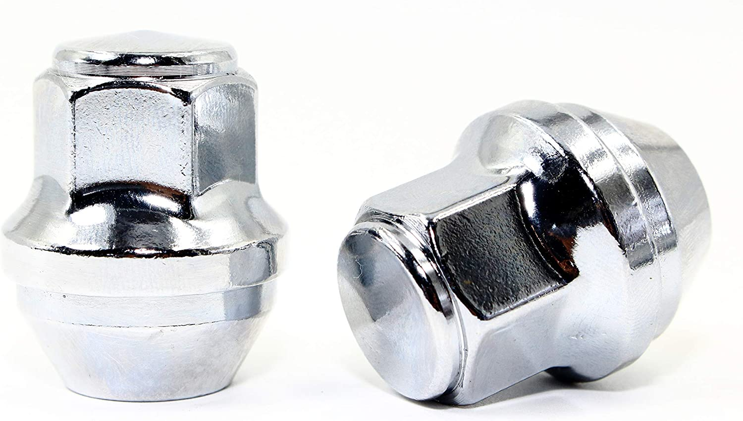 Set of 20 Veritek 14x1.5mm 13//16 21mm Hex 1.5 Inch 38.5mm Length Chrome OEM Factory Style Large Acorn Seat Lug Nuts for Ford Mustang Edge Fusion Lincoln Factory Wheels Replaces ACPZ1012D