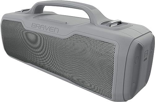 Braven BRV-XL – Waterproof Speaker – Rugged, Grey 604203563
