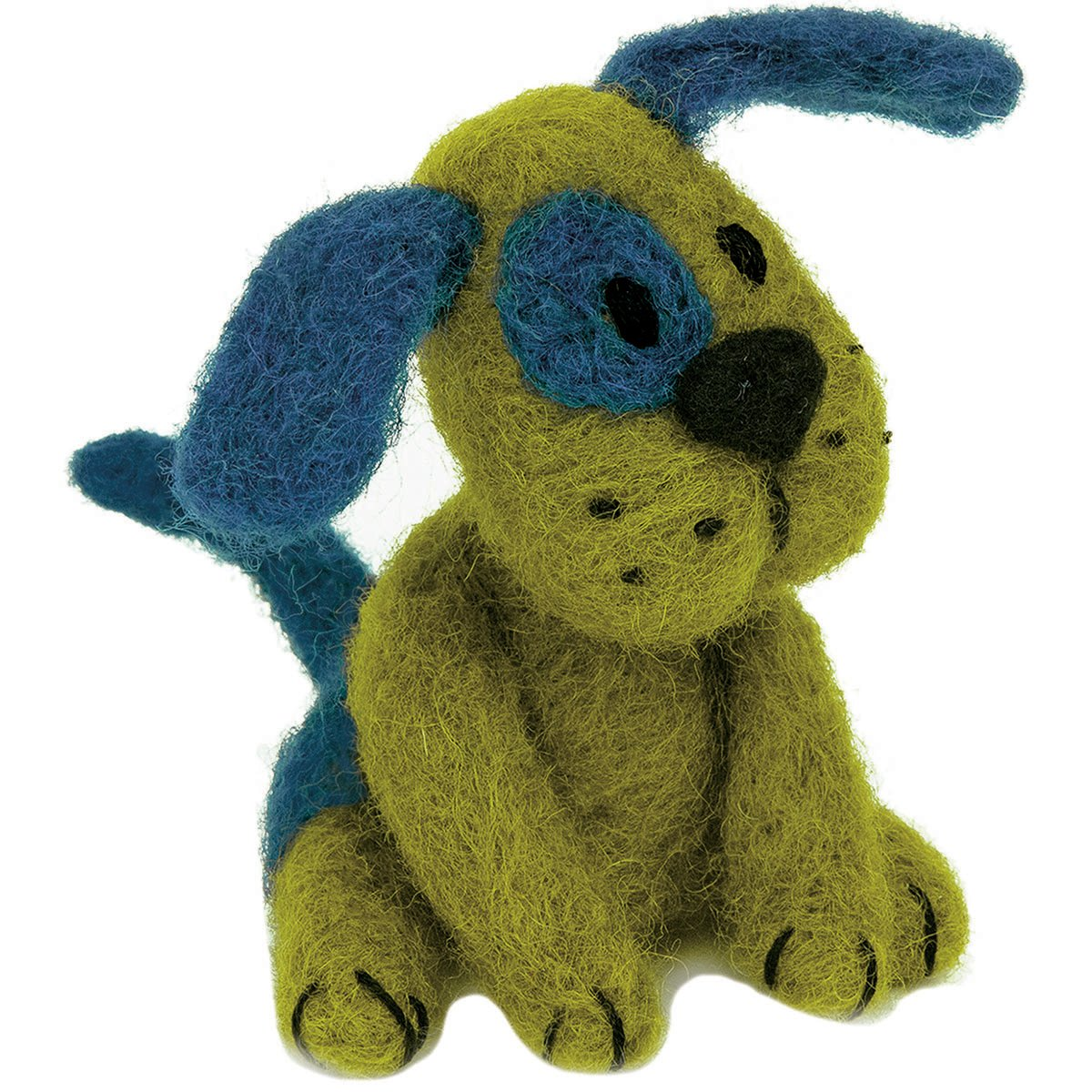 Dimensions Crafts 72-74042 Puppy Needle Felting Kit, Green