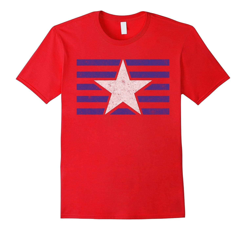 Blue & White Stars & Stripes Pride T-Shirt-CL