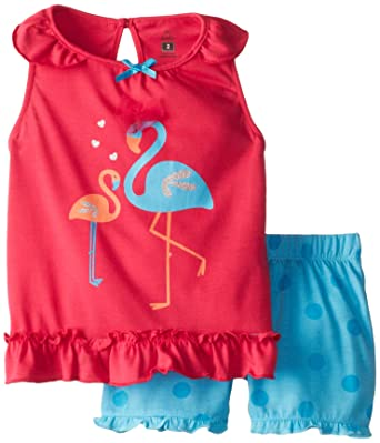Petit Lem Little Girls Polka Dot Knit Tank Top