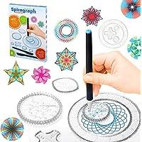 22Pcs Geometric Ruler DIY Creative Design Set Geometric Drawing Ruler Child Spiral Art Craft Creation Education Drawing…