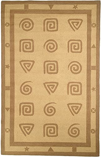 Safavieh Chelsea Collection HK211A Hand-Hooked Beige Premium Wool Area Rug 8'9″ x 11'9″
