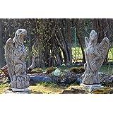 Yorrx Torwächterpaar Abraham + Squindal - ORIG Englische Steinfiguren Exklusiv