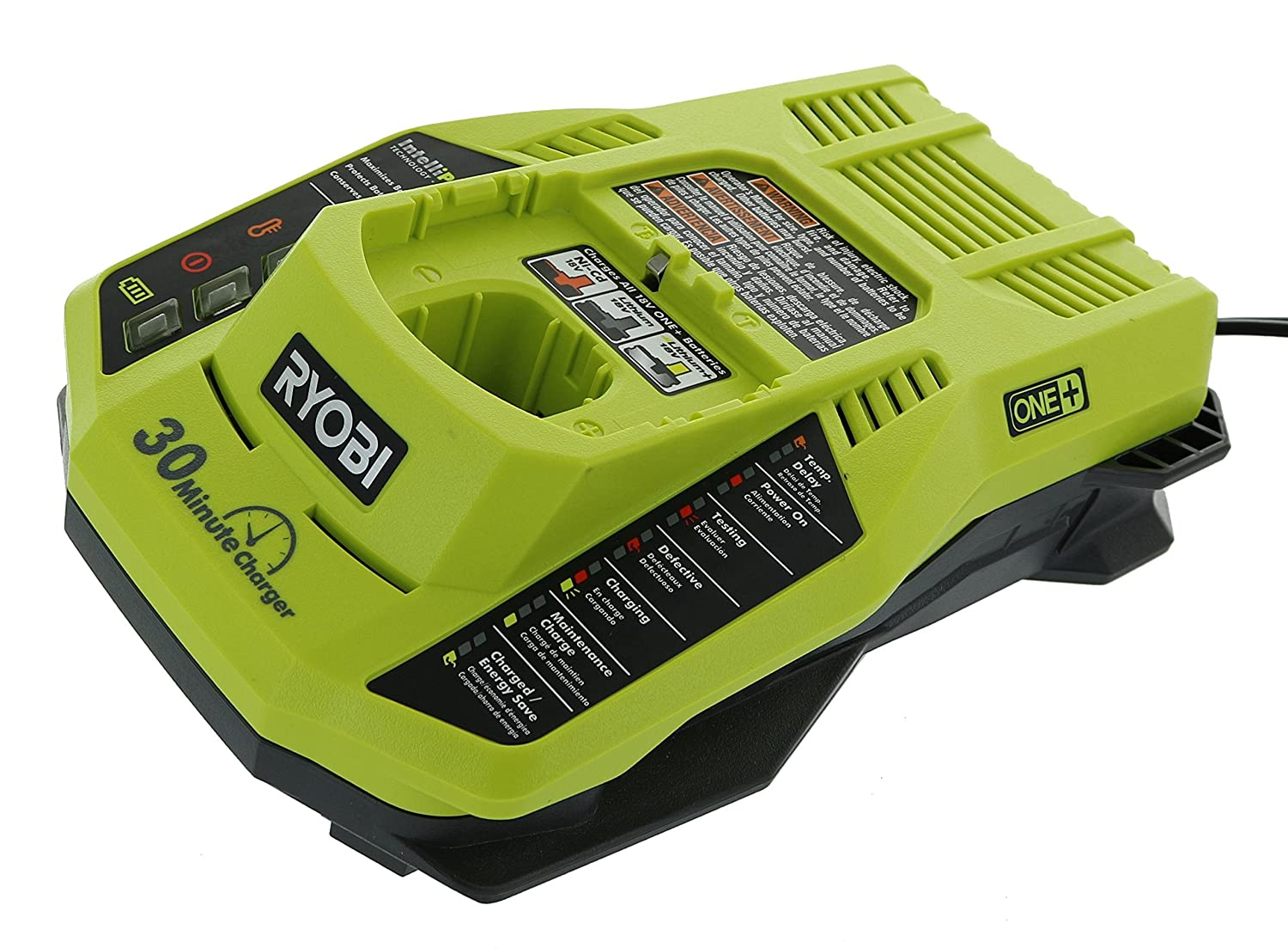 Ryobi P128 18V One+ Lithium-Ion Battery And Intelliport Charger, 10.94 x 11.02 x 3.541 (Certified Refurbished): Amazon.com: Industrial & Scientific