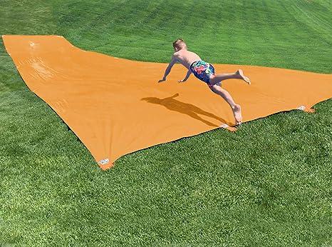 Large Double Water Slide Splash Sprint Inflatable Water Slides,Breakthrough Blast Water Slide,Garden Racing Waterslide 26.4ft Children Water Slide Garden Racing,Lawn Water Slides Water Slide