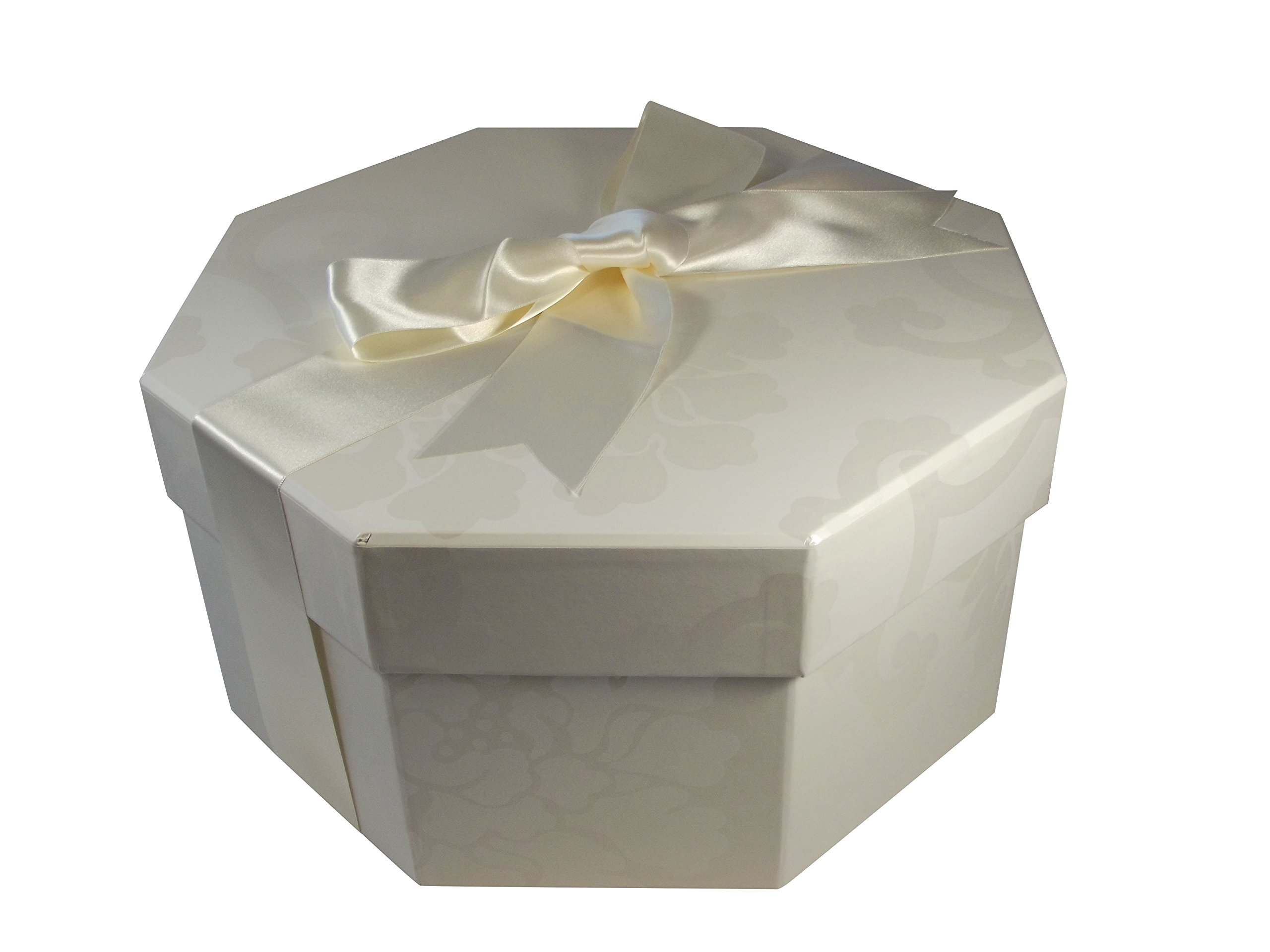 Foster-Stephens, inc Colorful Hat Box - Endsleigh Ivory (Large: 20.08'' Diameter x 8.27'') by Foster-Stephens, inc