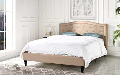 Amazon.com: Bastidor de cama clásico color marfil con ...