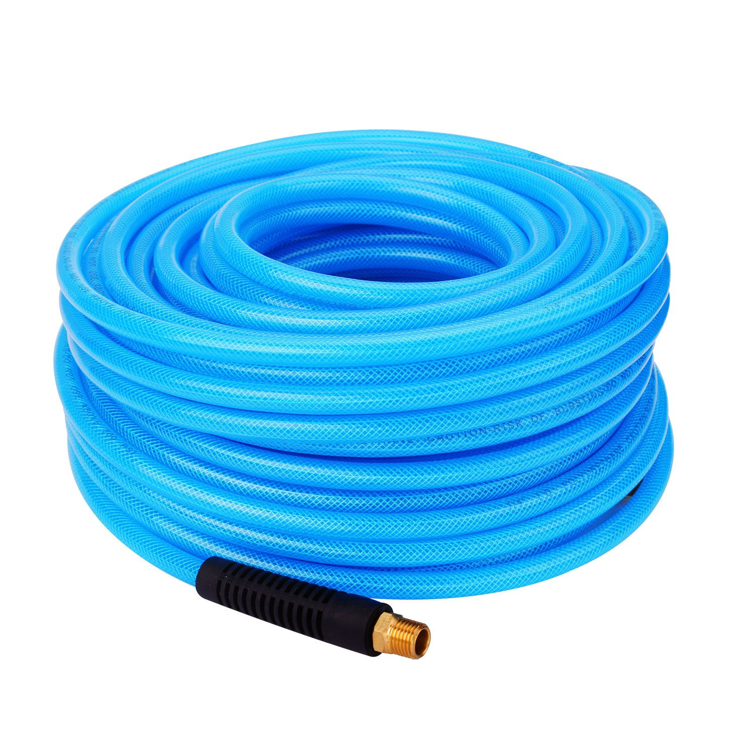 WYNNsky Reinforced Polyurethane (PU) Air Hose, 1/4''x100ft, 300 PSI, Air Compressor Hose With 1/4'' MNPT Brass Endings