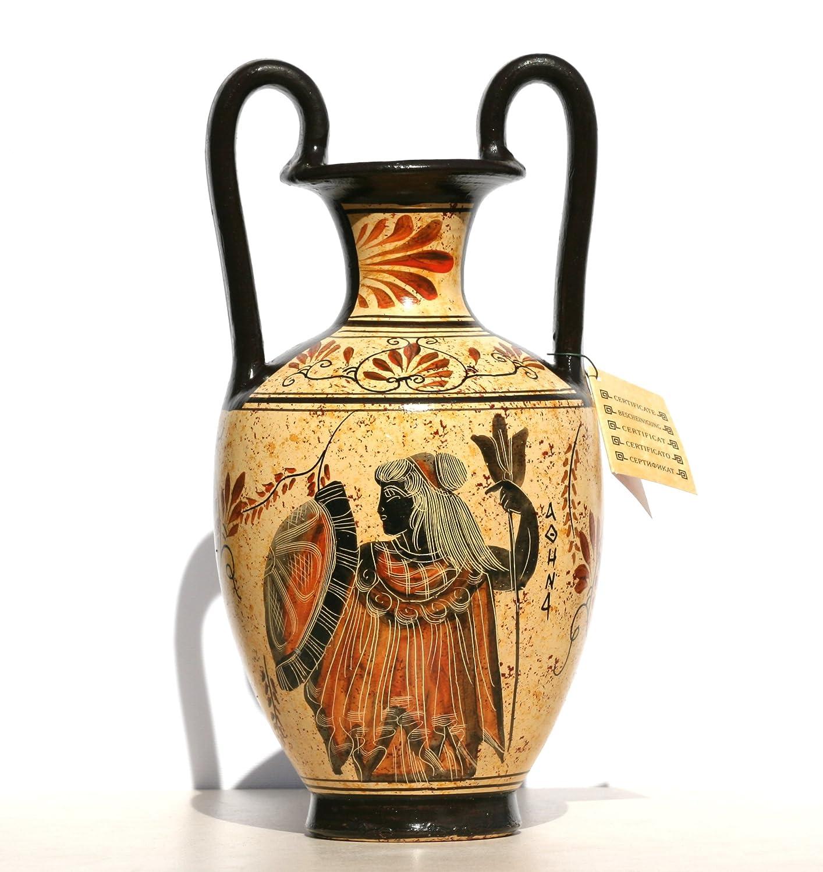 Dea greca ceramica anfora vaso dipinto vaso vaso Athena Dio Zeus Handmade