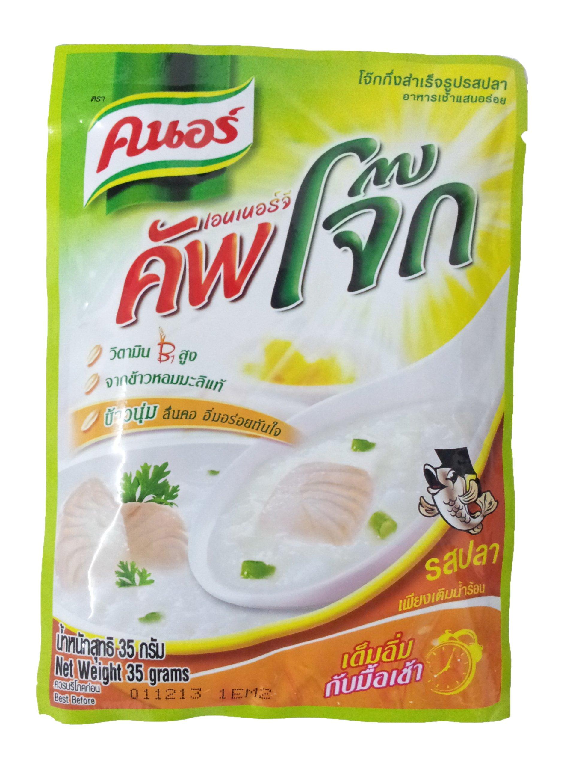 Knorr Instant Jasmine Rice Porridge Fish Flavor 35-grams Bag, 4 Count