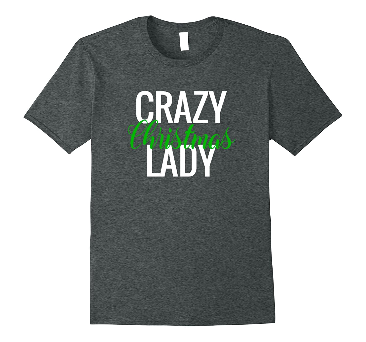 Crazy Christmas Lady Shirt Ladies Funny Xmas Print Tee Top-Rose