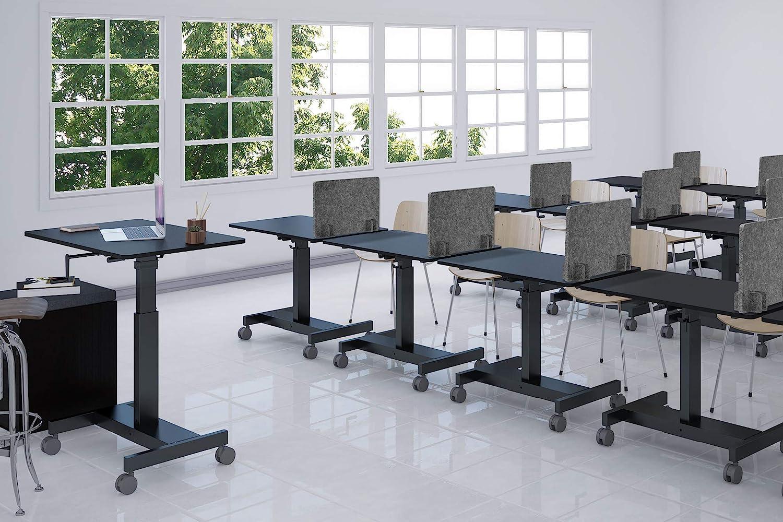 Castle Gray, 21 x 16 ReFocus Raw Divisorio acustico autoportante per scrivania riduce il rumore e le distrazioni visive grazie a questo pannello leggero da scrivania per privacy