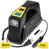Kensun AC/DC Digital Tire Inflator for Car 12V DC and Home 110V AC Rapid Performance Portable Air Compressor Pump for…