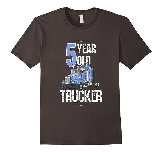 Mens 5th Birthday Shirt 5 Boy Year Old Kids Toddler Truck T 2XL Asphalt