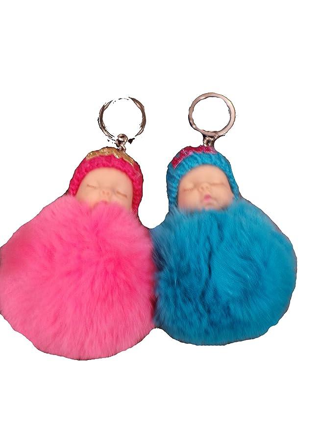 Amazon.com: Pompón peludo piel sintética gran regalo Fluffy ...