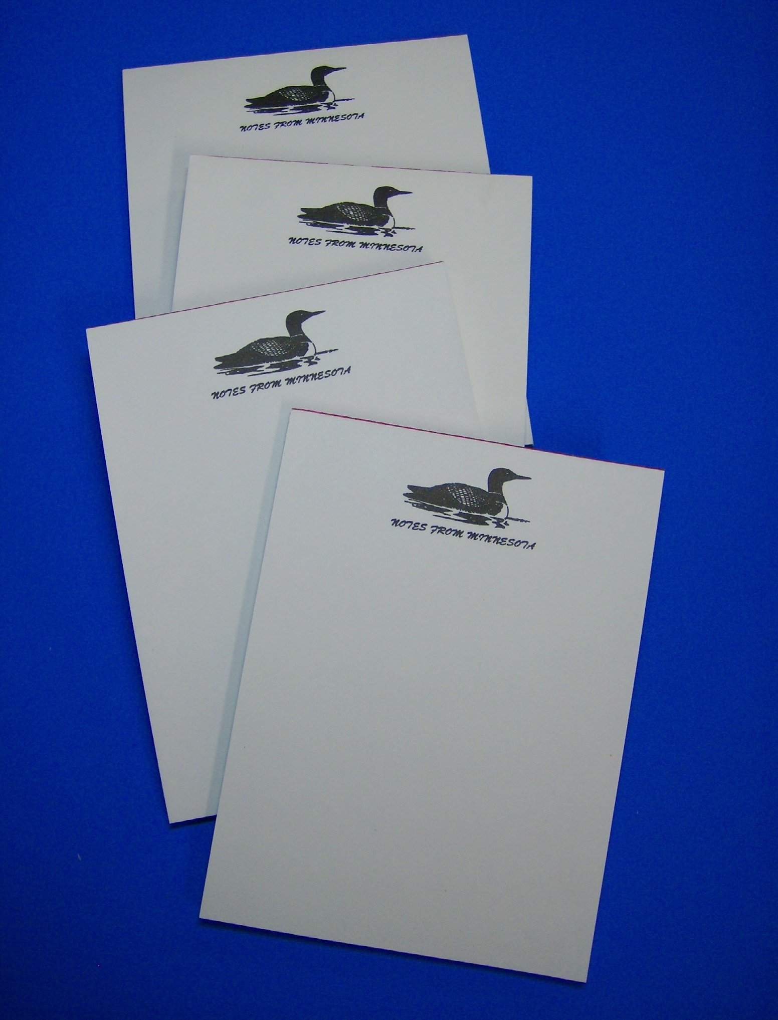 4 - Minnesota Souvenir Loon Notepads Memo Note Pad - Resort Gift Store Cabin Lakes by Select (Image #1)