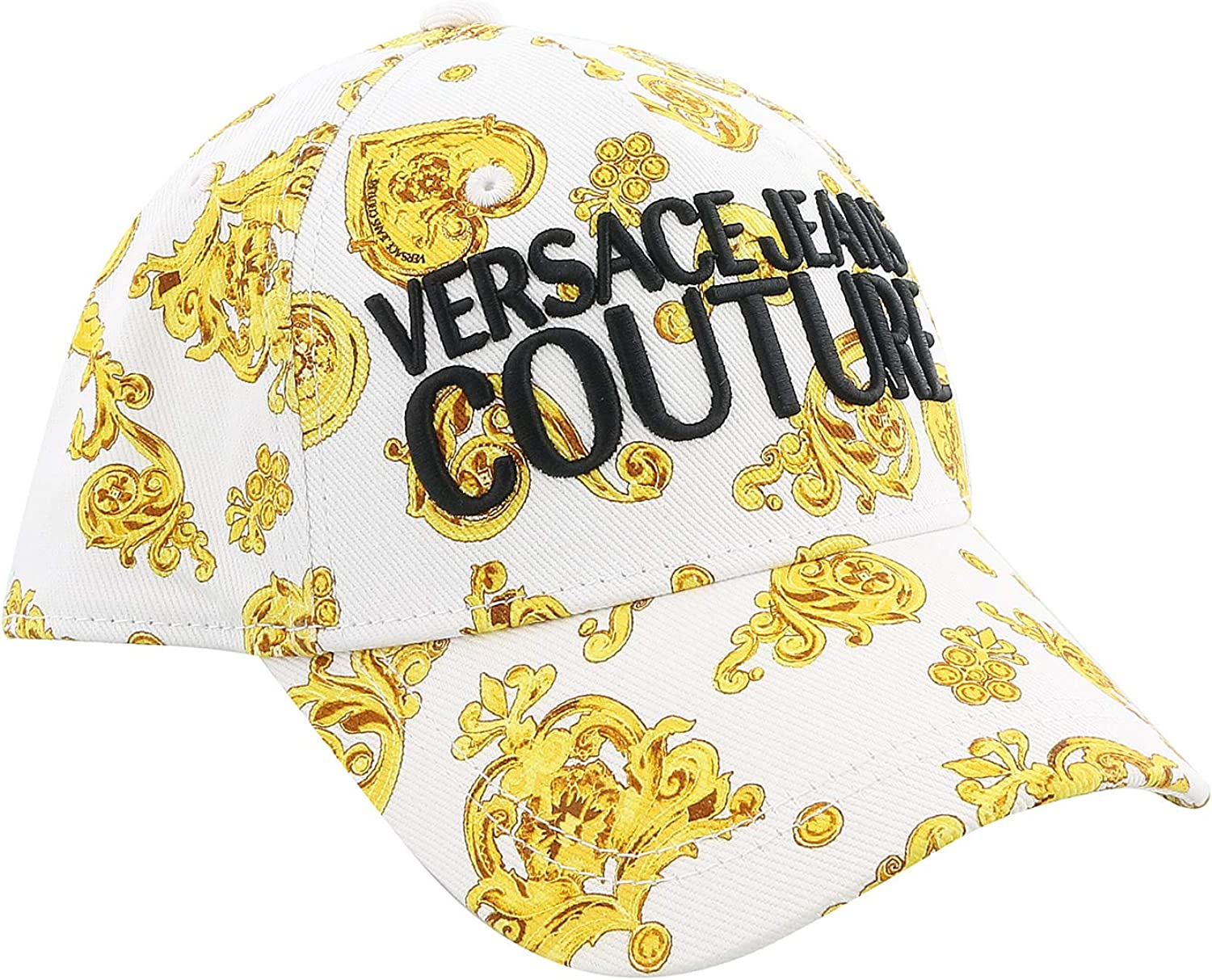 VERSACE JEANS COUTURE Gorra White/Gold