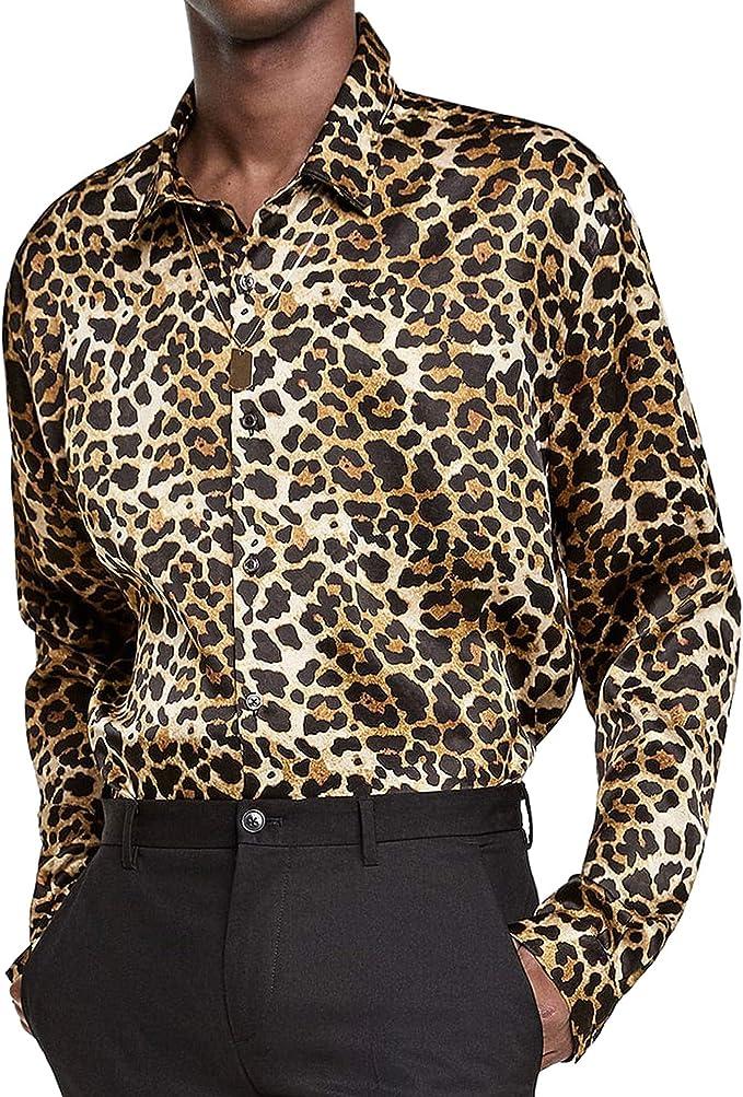 Zara 7545/413 - Camisa de satén con Estampado Animal para ...