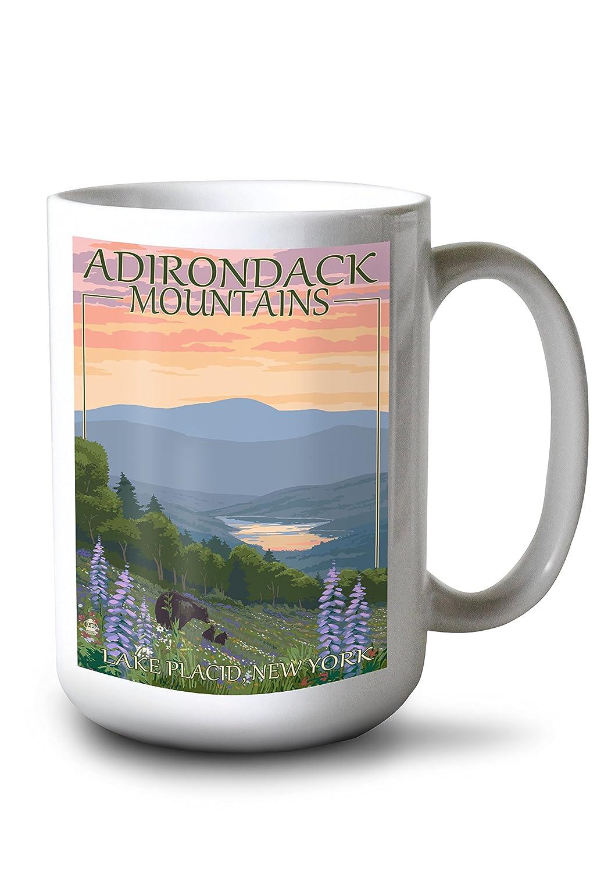 2019公式店舗 Adirondacks山 – レークプラシッド、ニューヨーク – – Bears Mug And Bears Spring Flowers Canvas Tote Bag LANT-46610-TT B0784LL46W 15oz Mug 15oz Mug, ニュートラルウェアライフonline:8840677d --- 4x4.lt