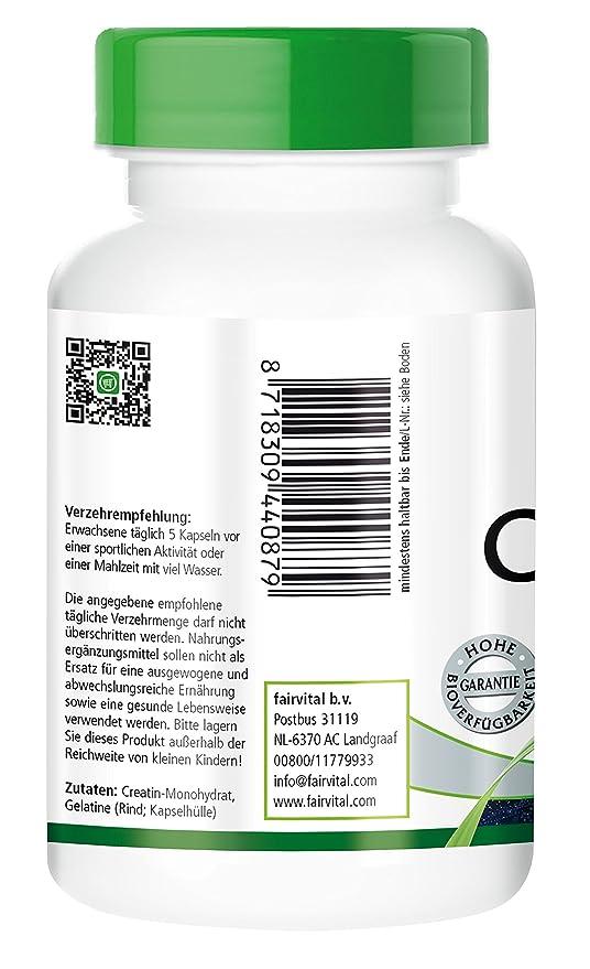 Creatina 700 mg - para 24 días - Alta dosificación - 120 cápsulas - monohidrato de creatina como una sustancia pura sin aditivos: Amazon.es: Salud y cuidado ...