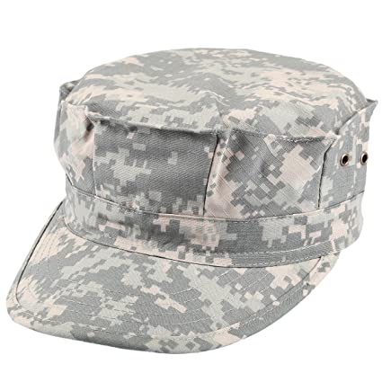 Amazon.com   squaregarden Cadet Army Cap for Men Military Style Hats ... 0c1ad4d8633