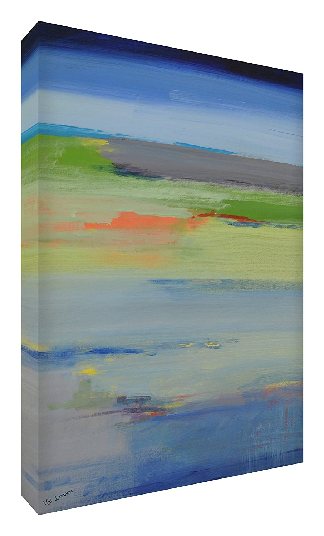 Feel Good Art Leinwand leuchtenden Farben Abstrakt gehören des Künstlers Val Johnson Ruhe 115x 78x 4cm Größe XXL