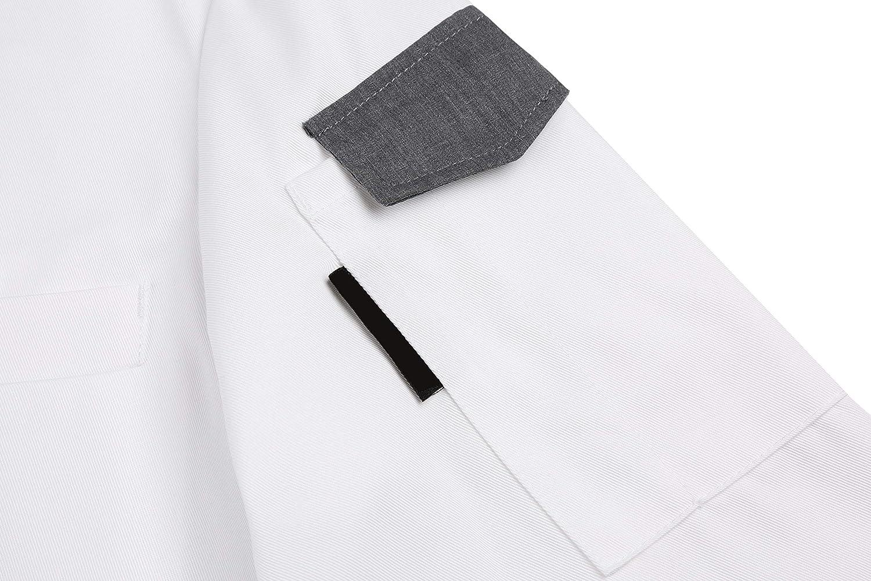 Cheflife Mens Stylish Unisex Chef Uniforms Long Sleeve Coat Jacket