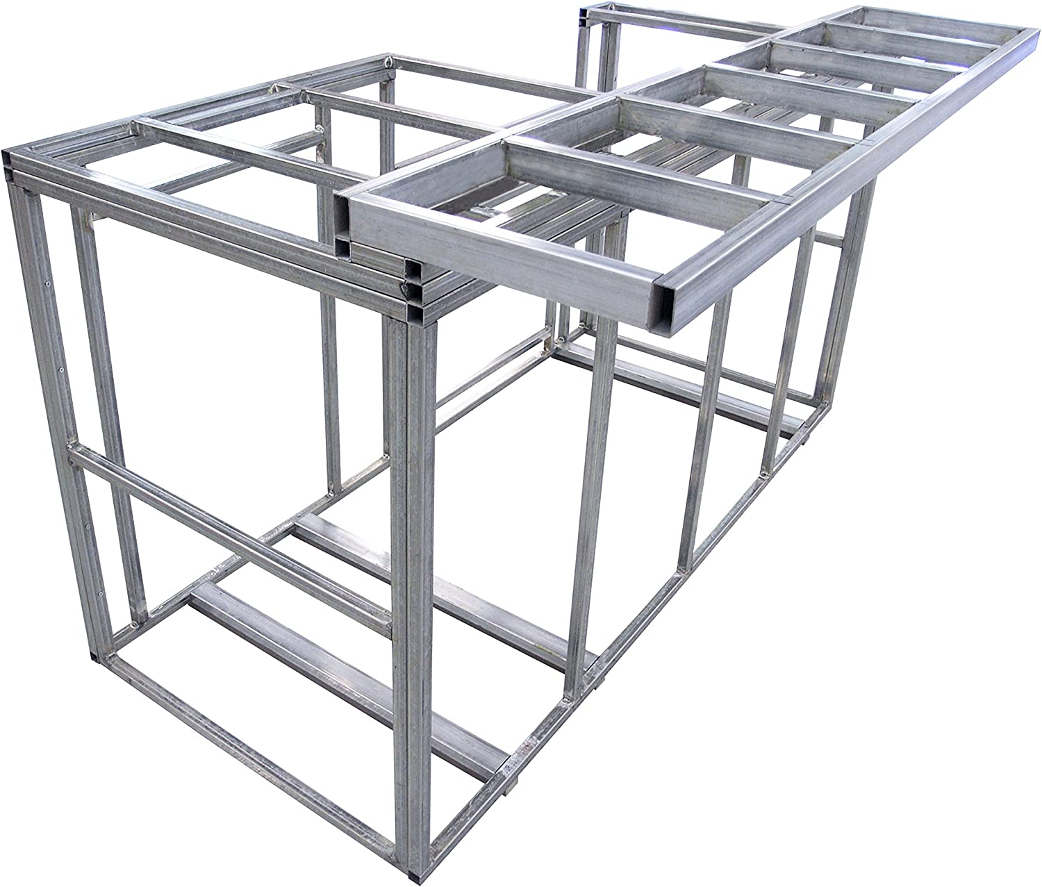Cal Flame Kd F6016 6 Outdoor Kitchen Island Frame Kit With Bar Top Diy 77 Wide X 20 Deep X 47 Tall 184 Lbs Amazon In Garden Outdoors