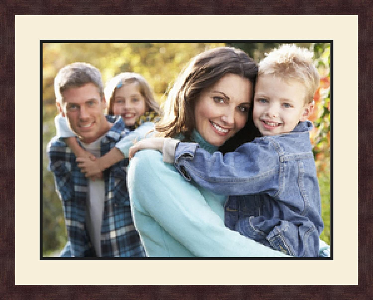 Art to Frames Double-Multimat-654-861//89-FRBW26061 Collage Frame Photo Mat Double Mat with 1-18x24 Openings and Espresso Frame