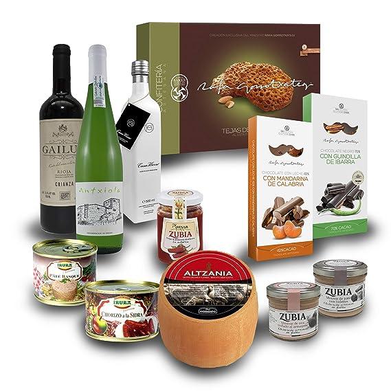 Lote de productos vascos gourmet BasquEAT- 12 artículos -Rafa Gorrotxategi, Casa Hierro,