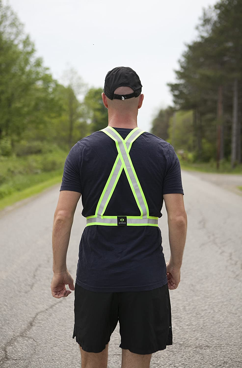 Cycling Elastic Walking and Hiking Lightweight Adjustable and High Visibility of up to 1000 feet Zivalo 3M Scotchlite Reflective Vest for Outside Sports Such as Running