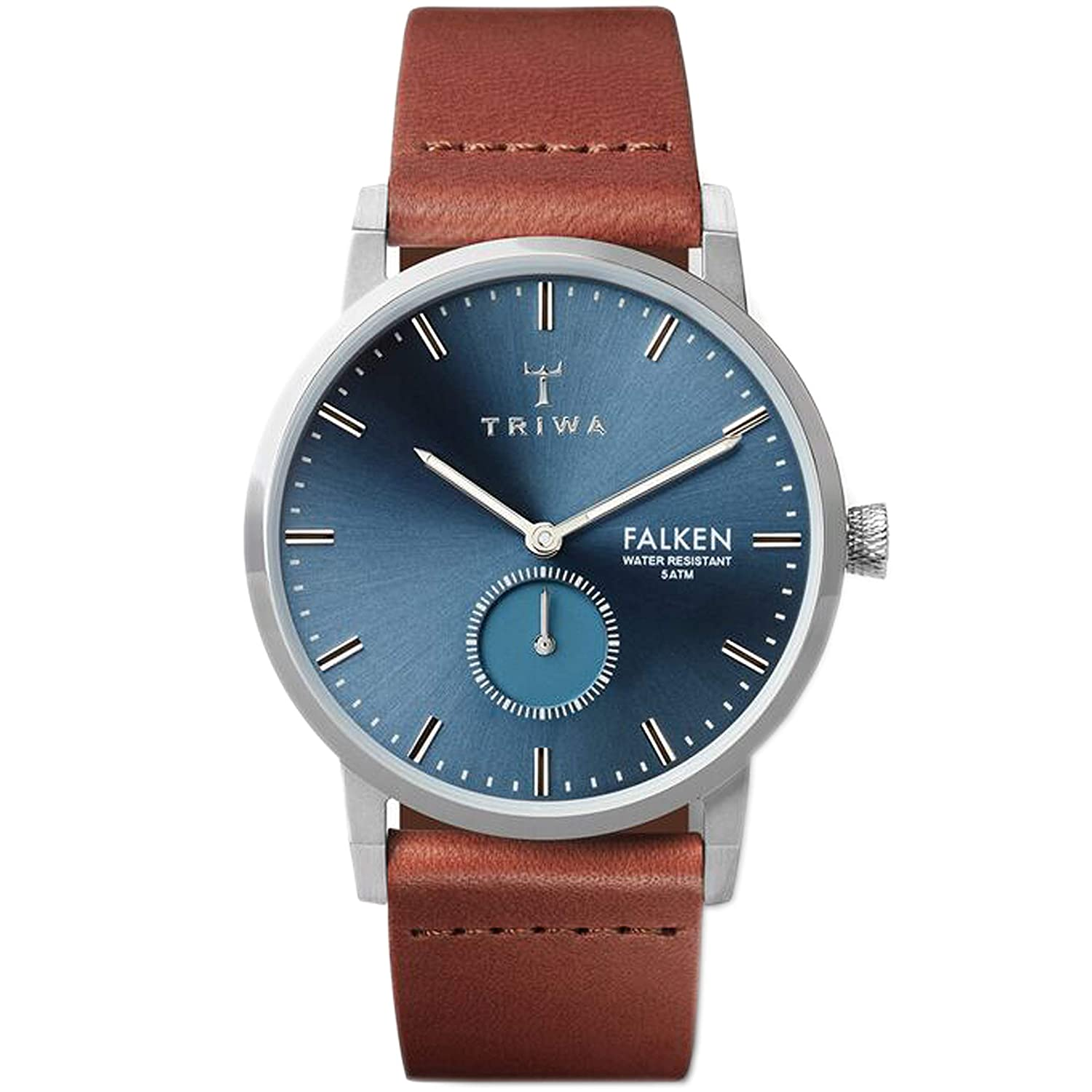 TRIWA Falken Men's Minimalist Dress Watch – Luxury Wrist Watches for Men, 38mm