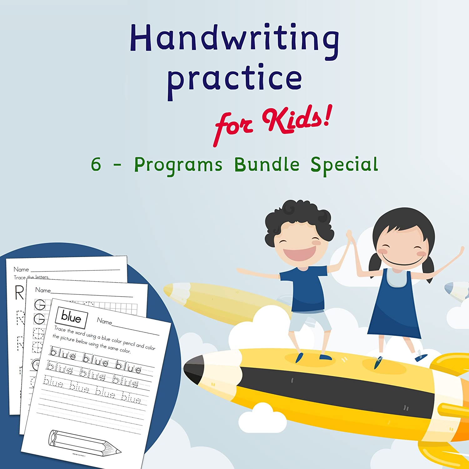 Amazon.com: Handwriting Practice For Kids | 6 Special ...