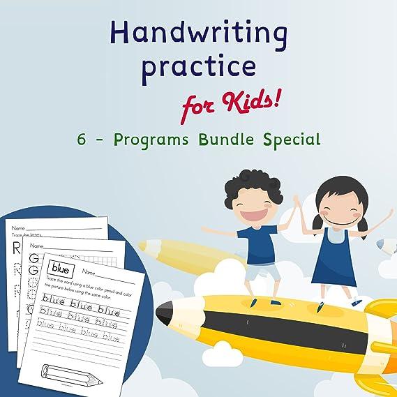 Amazon.com: Handwriting Practice For Kids | 6 Special ...