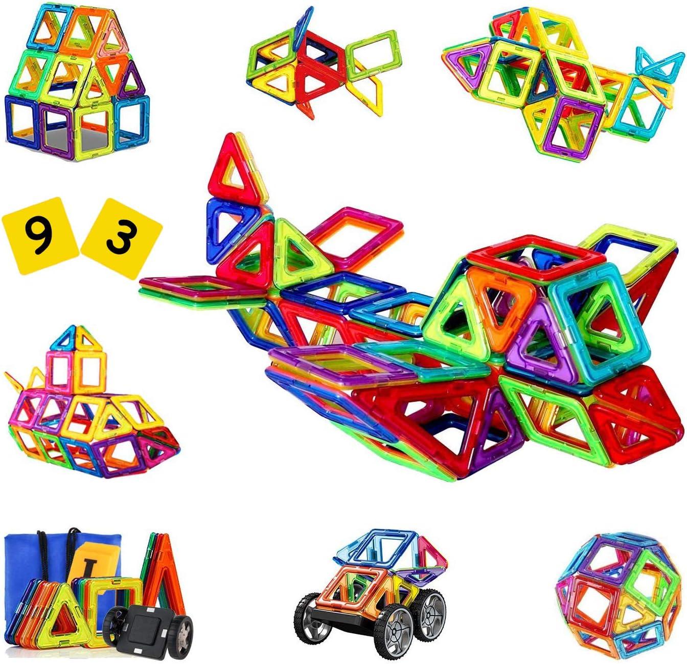110Pcs Magnet Building Blocks Educational Toys Kids Colorful Gift Set Handbook