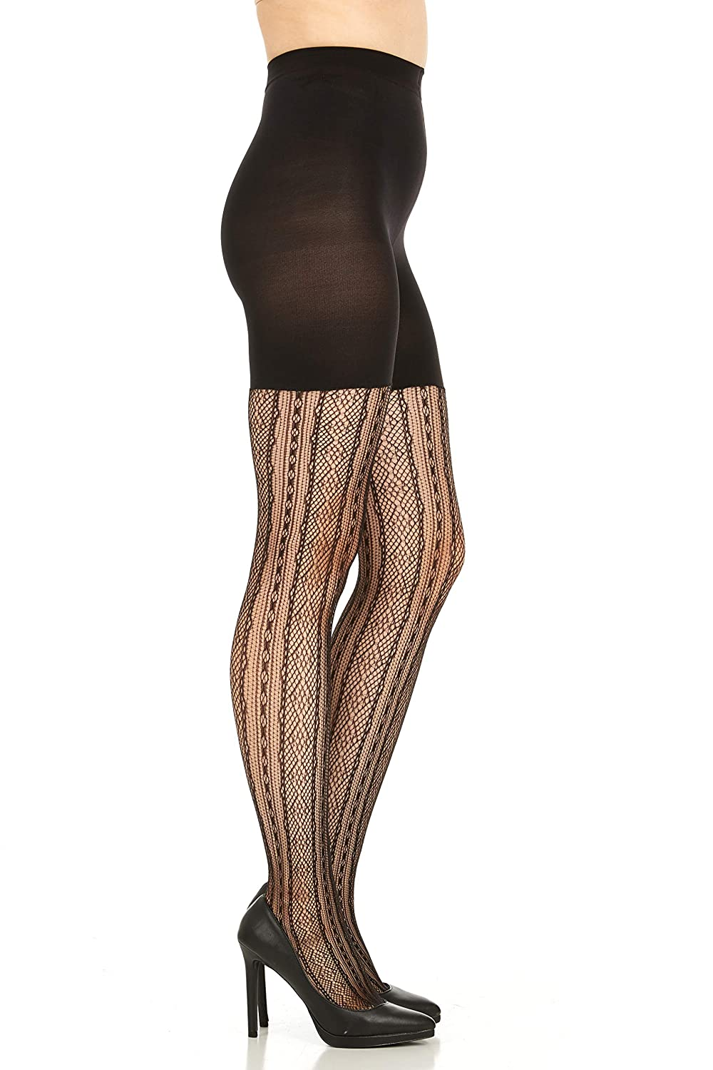 776c73aa33219 SPANX Control Top Shaping Tights Patterned Diamond Stripe - 2062 at Amazon  Women's Clothing store:
