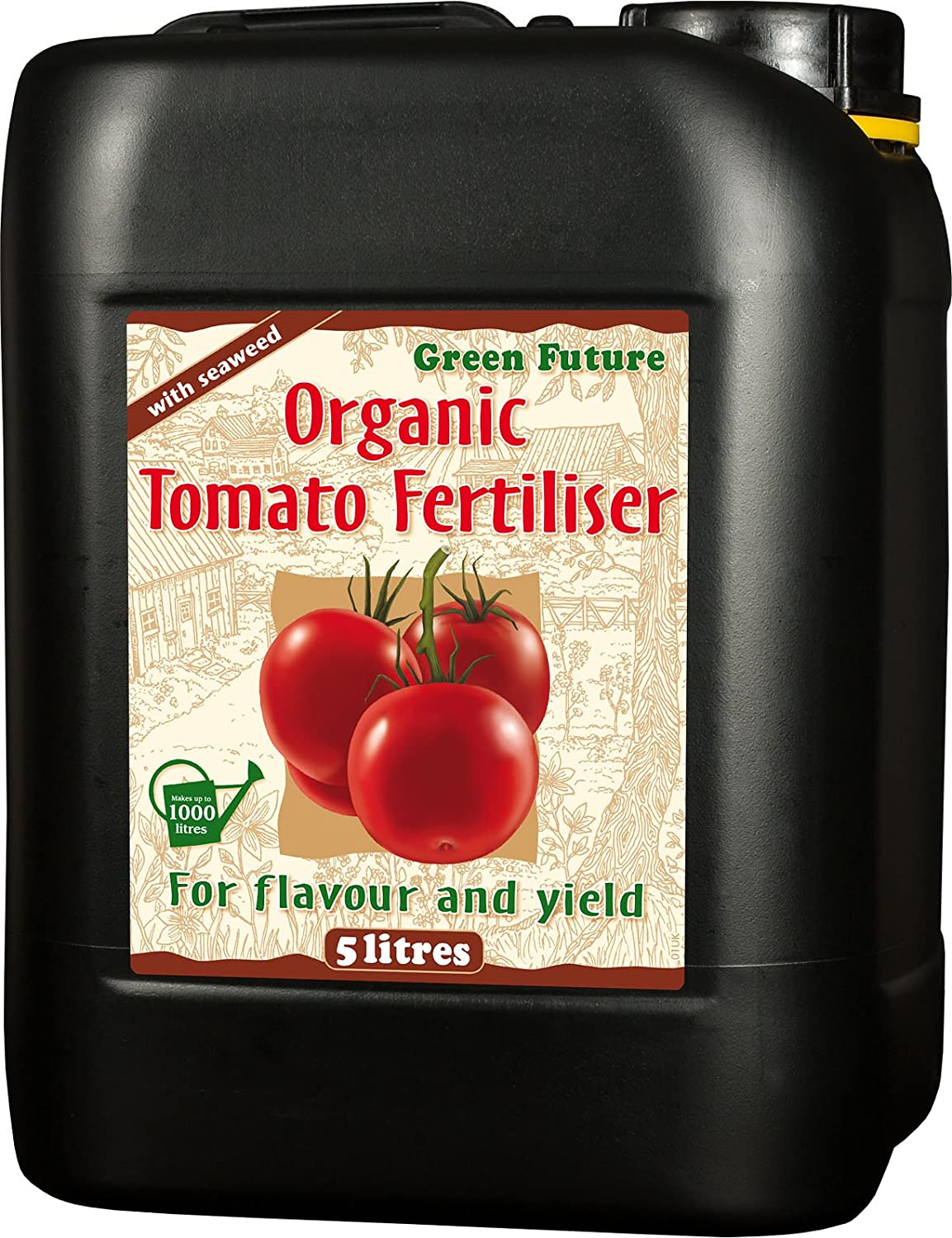 Growth Technology Ltd 05-210-160 Green Future Organic Tomato Fertiliser 5 Litre