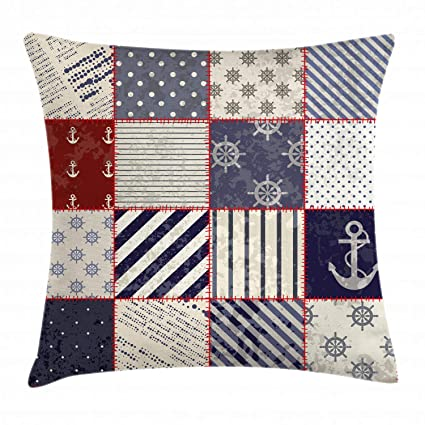 Amazon.com: Lunarable Nautical Throw Pillow Cushion Cover ...