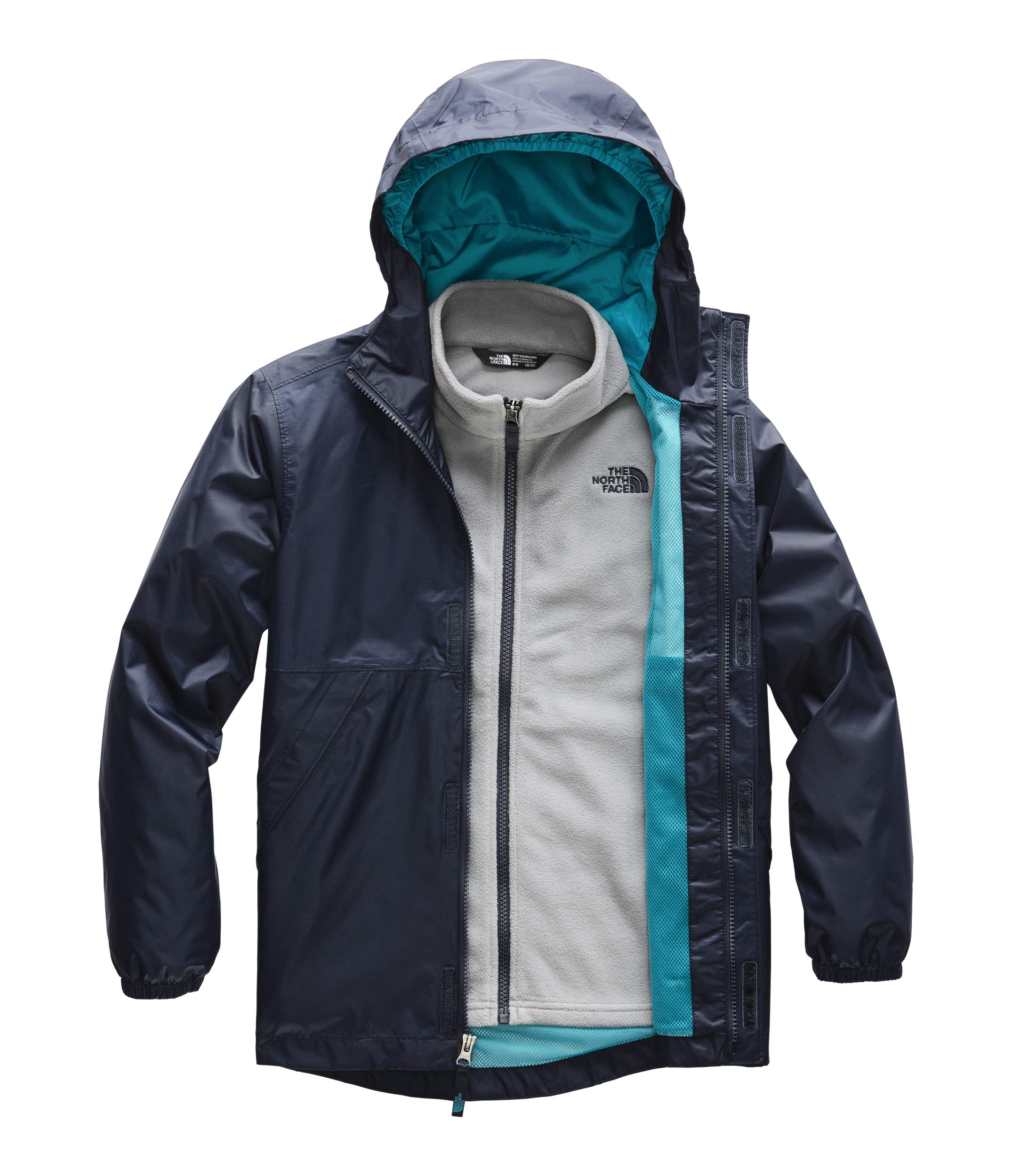 The North Face Boys' Stormy Rain Triclimate, Cosmic Blue, Small