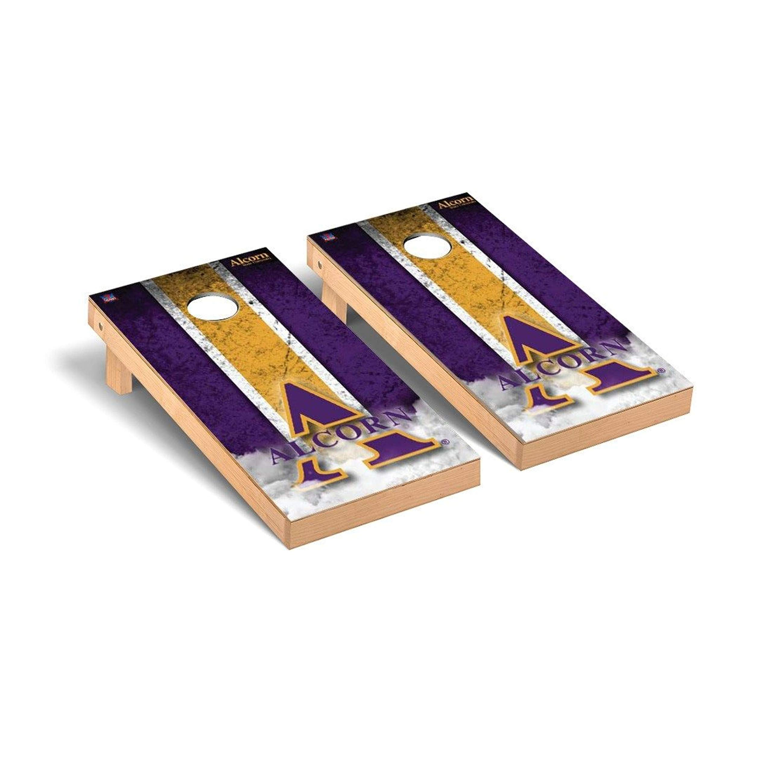 Victory Tailgate Regulation Collegiate NCAA Vintage Series Cornhole Board Set - 2 Boards, 8 Bags - Alcorn State Braves