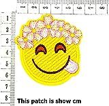 Cute Happy Face Flower Crown Emoji Cartoon Chidren