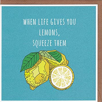 When life gives you lemons squeeze them quirky lemons greetings when life gives you lemons squeeze them quirky lemons greetings card hand drawn m4hsunfo