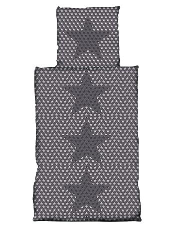 2 teilig Flausch Bettwäsche 135x200 cm KEEP CALM beige Thermofleece Microfaser