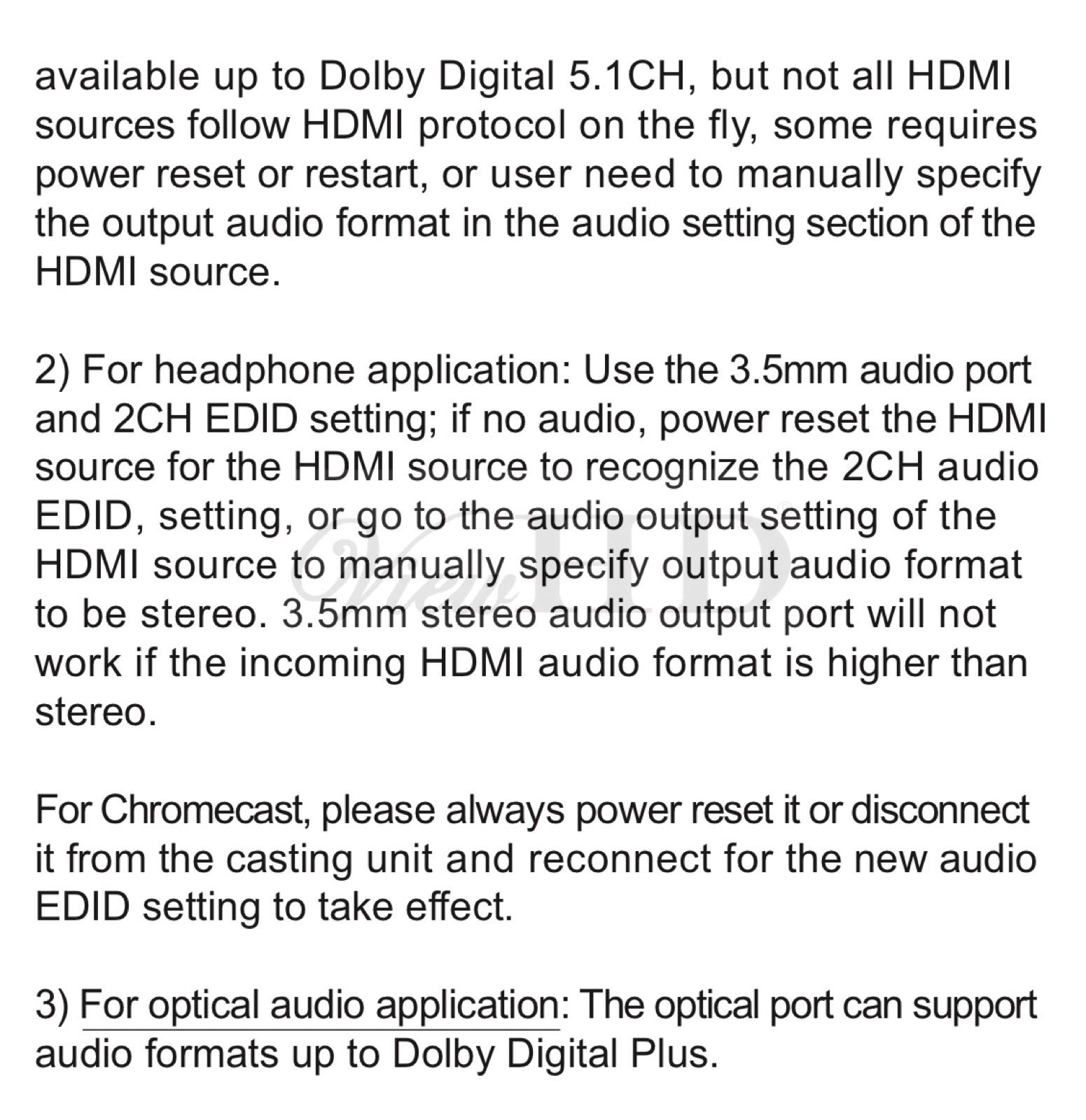 ViewHD UHD 18G HDMI Audio Extractor/Splitter Support HDMI v2.0 | HDCP v2.2 | 4K@60Hz | HDR | ARC | 3.5MM Analog Audio Output | Toslink Optical Audio Output | HDMI Audio Output | Model: VHD-UHAE2 by ViewHD (Image #6)