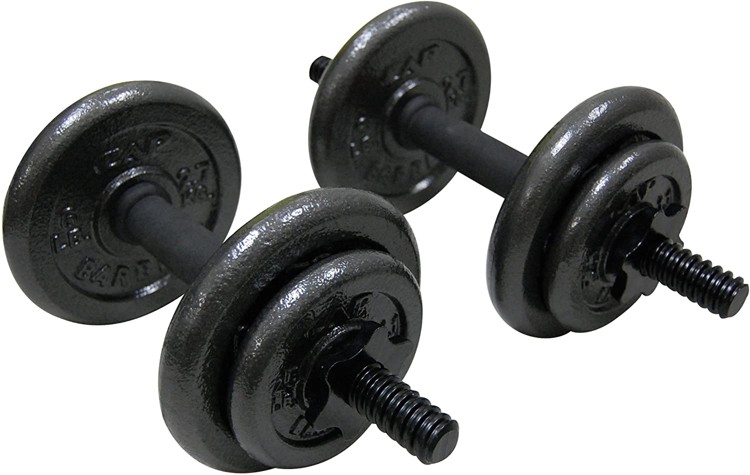 30//34//40//45//50cm Lenght For Home Gym Fitness Dumbbell Bars With Clamps 25mm
