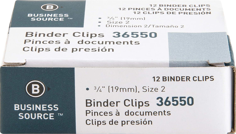 Mini Business Source Fold-Back Binder Clips 65364BX