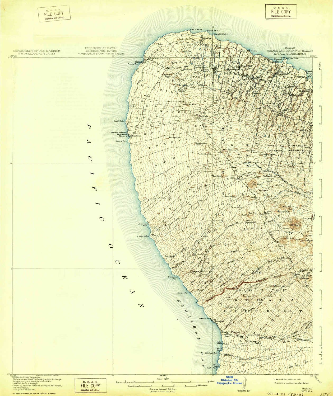 Kohala Hawaii Map.Amazon Com Yellowmaps Kohala Hi Topo Map 1 62500 Scale 15 X 15